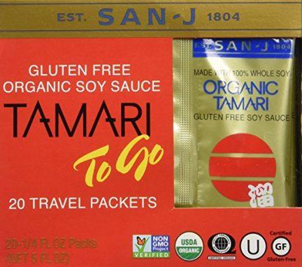 Tamari to-go travel packets.