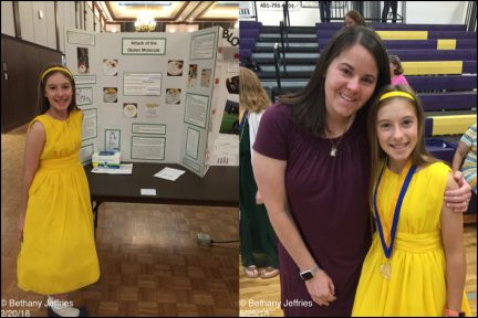 Bethany won her division in the regional science fair