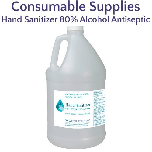 Hand Sanitizer 80% Alcohol Antiseptic